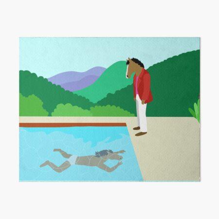 Minimal Horseman Art Board Print