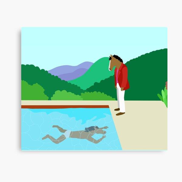 Minimal Horseman Canvas Print