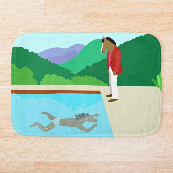 Minimal Horseman Bath Mat