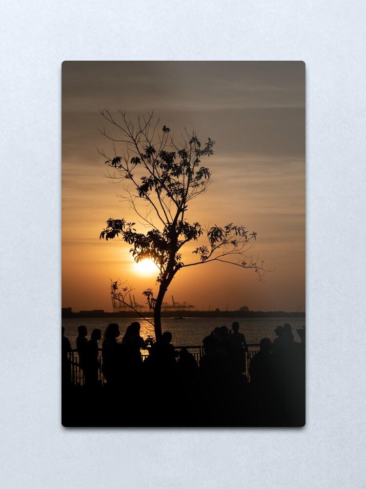 Alternate view of Tamsui Sunset Metal Print