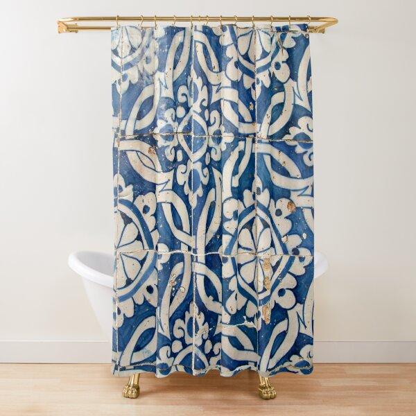 Vintage portuguese azulejo Shower Curtain