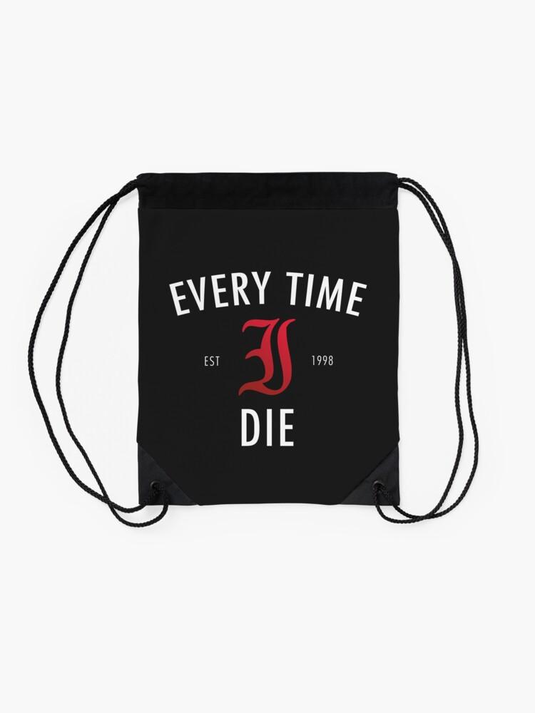 Alternate view of Every Time I Die 'Hot Damn' Shirt Drawstring Bag