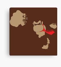 Donkey Kong Pixel Silhouette Canvas Print