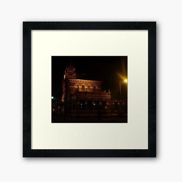 Golden post office Framed Art Print