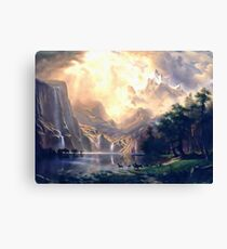 Sierra Nevada Ode To Bierstadt Dedication Canvas Print