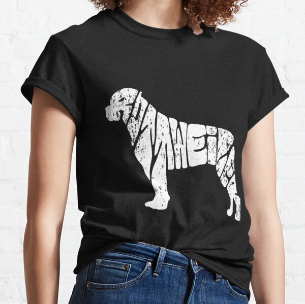 Rottweiler Typo Silhouette Dog Lovers Classic T-Shirt