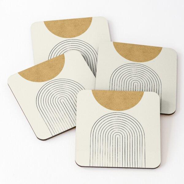 Arch Balance Gold - Mid century modern Coasters (Set of 4)