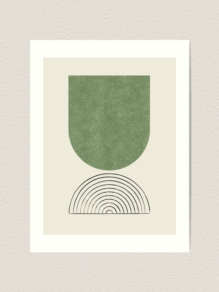 Alternate view of Arch Balance Green 2 - Mid century modern Art Print