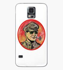 World War II General Corn Cob Pipe Watercolor Case/Skin for Samsung Galaxy