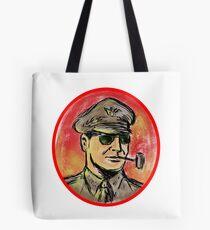 World War II General Corn Cob Pipe Watercolor Tote Bag