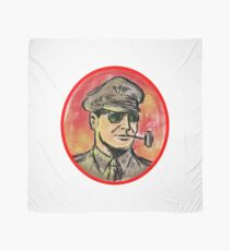 World War II General Corn Cob Pipe Watercolor Scarf