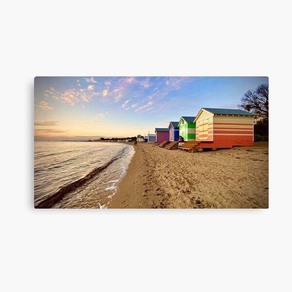 Brighton Beach Bathing Boxes Canvas Print
