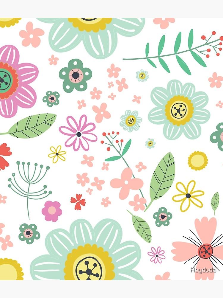 Spring floral pattern by Heyduda