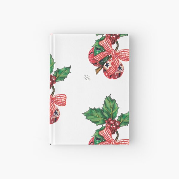 Holly Christmas bells Hardcover Journal