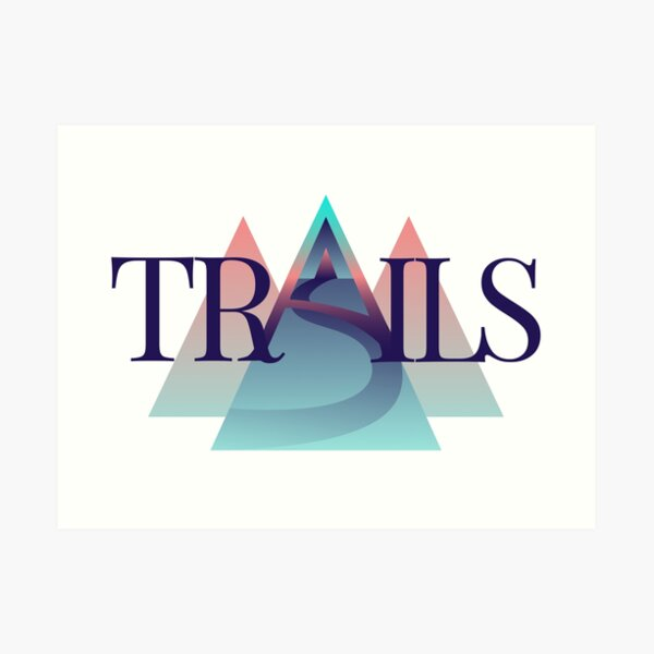 TRAILS - Logo Kunstdruck