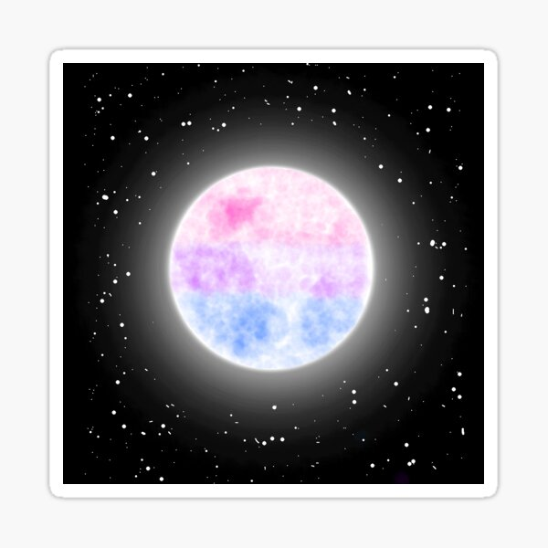 Bisexual Moon Sticker