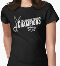 Reverse Sweep Champions (White) Womens Fitted T-Shirt
