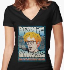 Bernie Sanders Road To The Whitehouse Tour 2016 Women's Fitted V-Neck T-Shirt