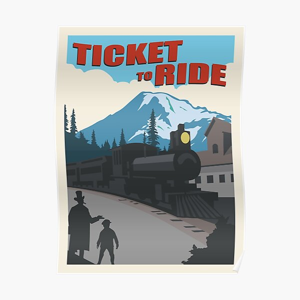 Ticket to Ride Board Game- Minimalist Travel Poster Style - Gaming Art Poster