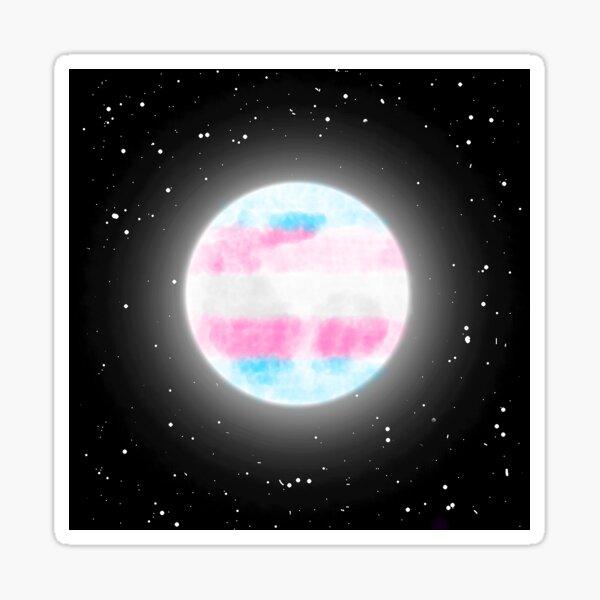 Transgender Moon Sticker