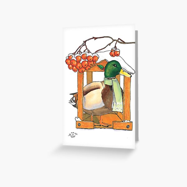 Winter duck Greeting Card