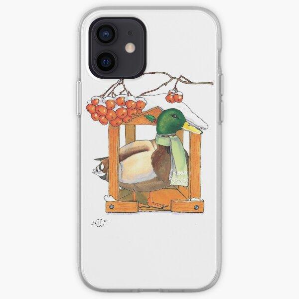 Winter duck iPhone Soft Case