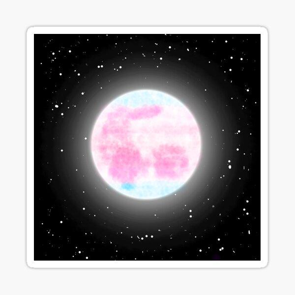 Trans Feminine Moon Sticker