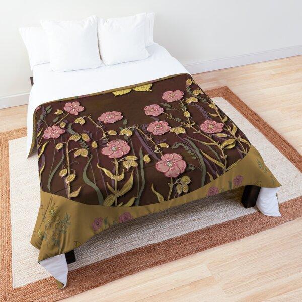 Butterflies & Blooms - Gold Comforter