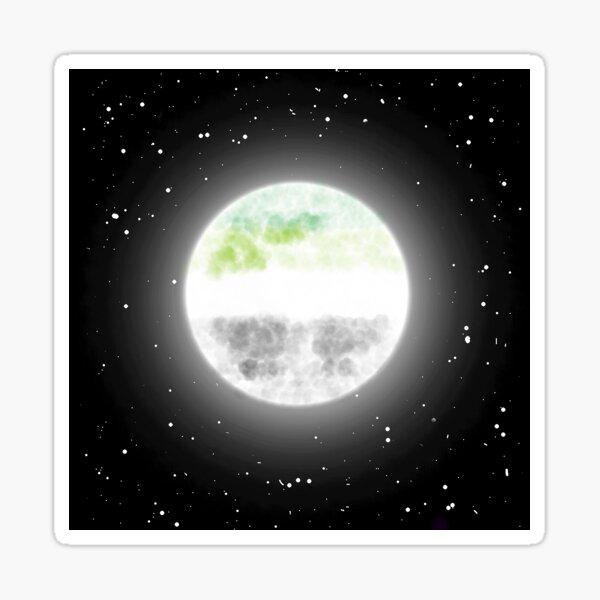 Aromantic Moon Sticker