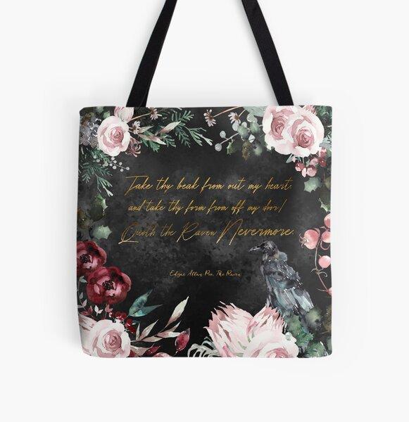 Poe's Raven  All Over Print Tote Bag