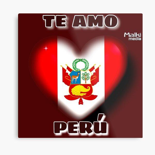 Te amo Perú Metallbild