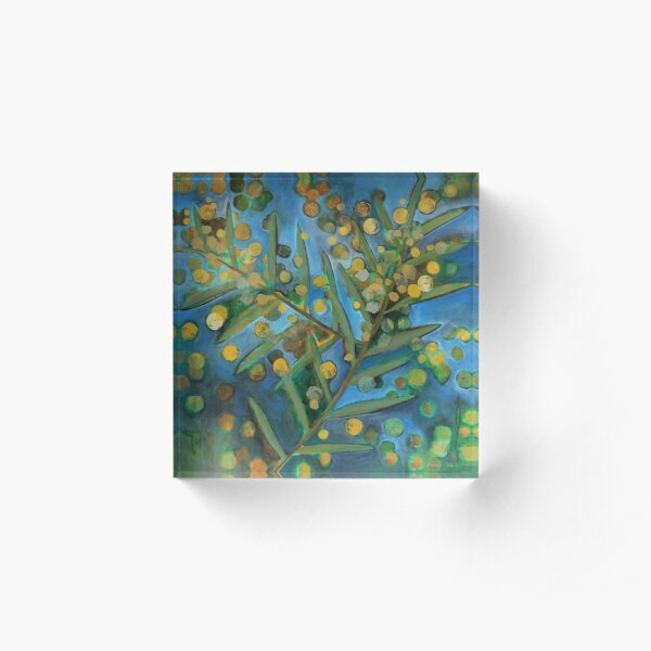 Wattle Acrylic Block
