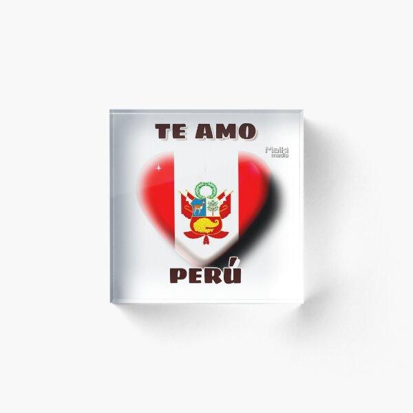 Te amo Perú Acrylic Block