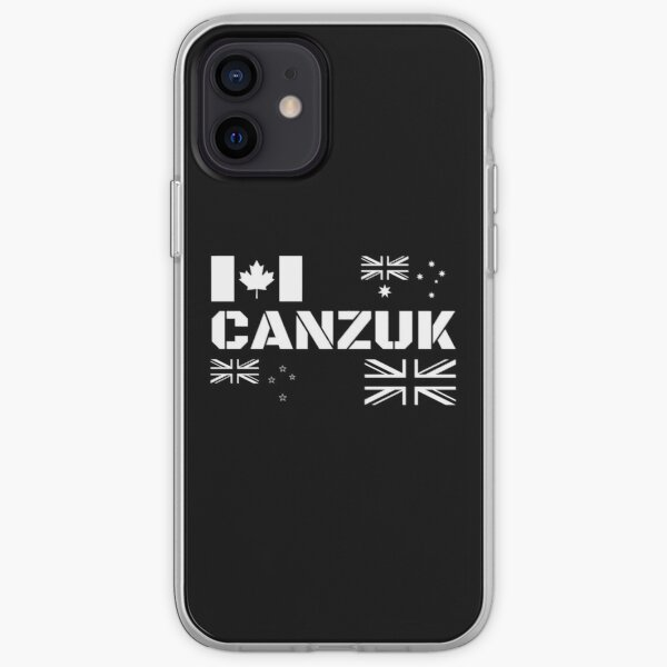 CANZUK Flags in Military Design iPhone Soft Case