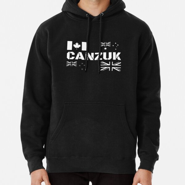 CANZUK Flags in Military Design Pullover Hoodie