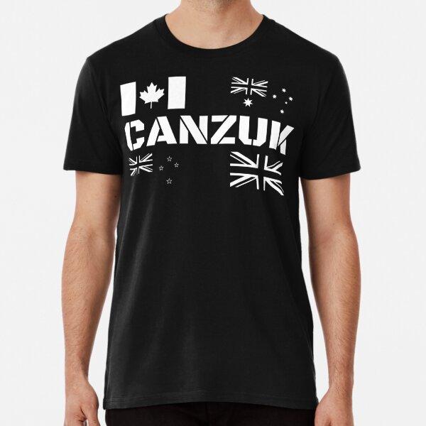 CANZUK Flags in Military Design Premium T-Shirt