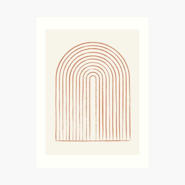 Arch Dusty Orange Art Print