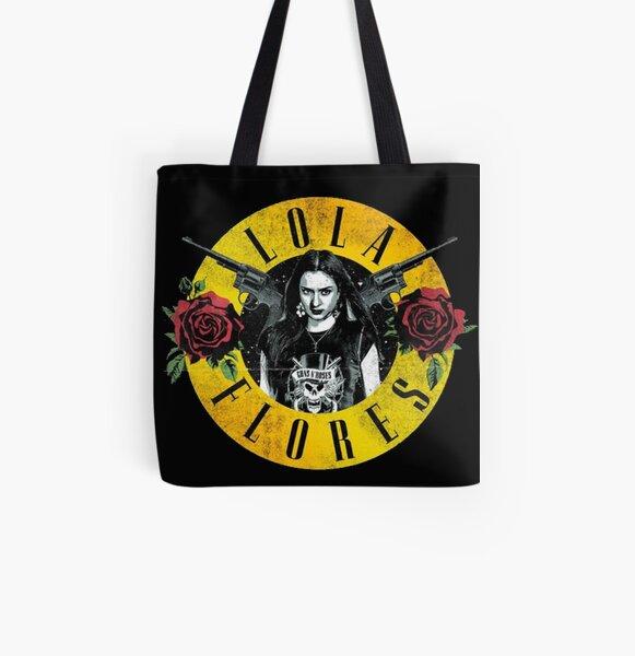 camiseta lola flores Bolsa estampada de tela
