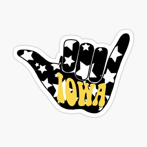 Iowa hang loose Sticker