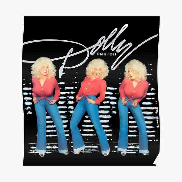 retro Dolly Parton's Vintage for lovers Poster