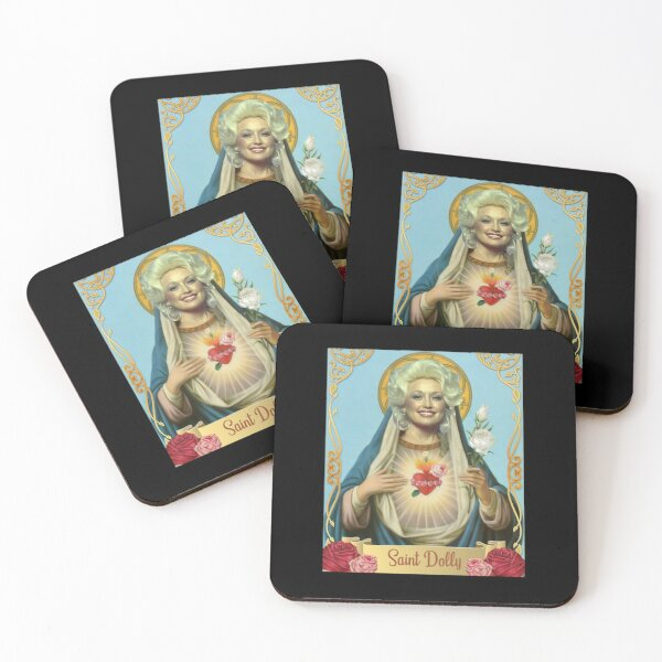 vintage saint dolly gift parton's lovers men women Coasters (Set of 4)