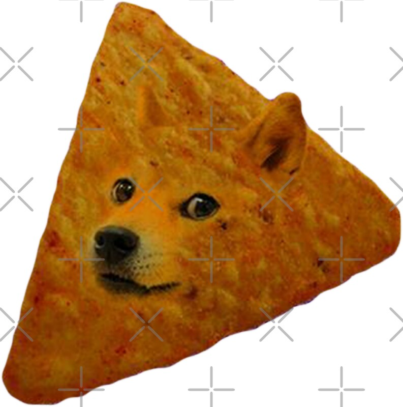 """Doritos Stickers: """"Doge Doritos In Space"""" Stickers By Doge21"""