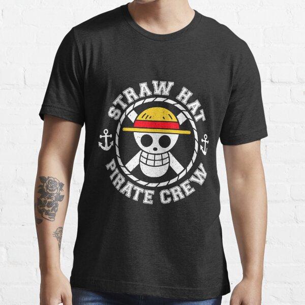 Équipage de chapeau de paille T-shirt essentiel