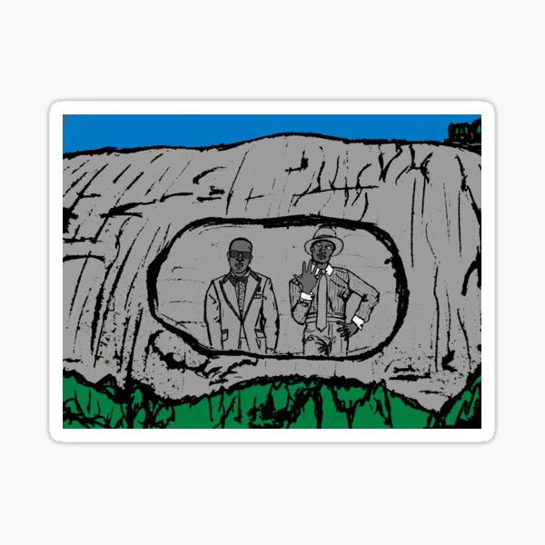 Two Dope Boyz on Stone Mountain Sticker