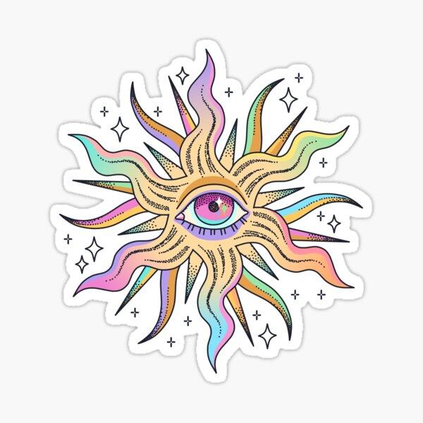 Watching the sun Sticker