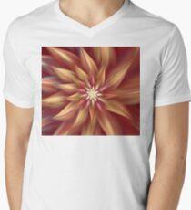 Beautiful Dahlia Abstract Mens V-Neck T-Shirt