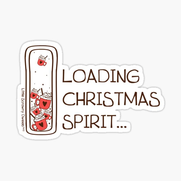 Christmas Spirit loading: Hot cocoa Capsule Sticker