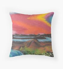 Tranquil Sunset Over Water Throw Pillow