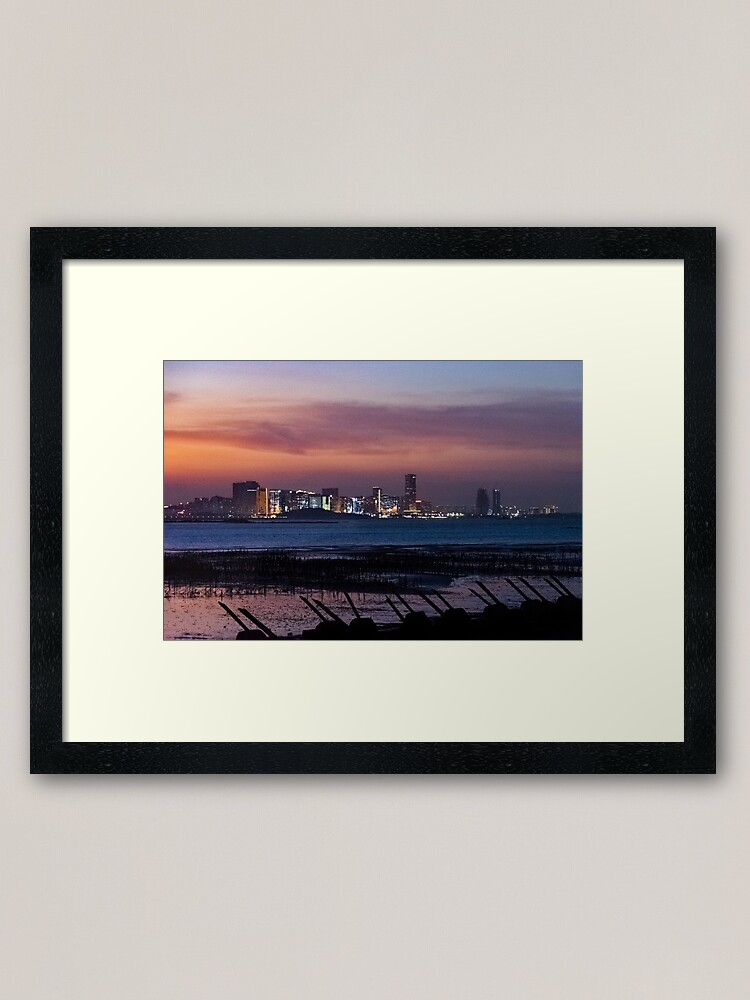 Alternate view of Landscape #1 - Edges of the Cold War: Kinmen to Xiamen Night Framed Art Print