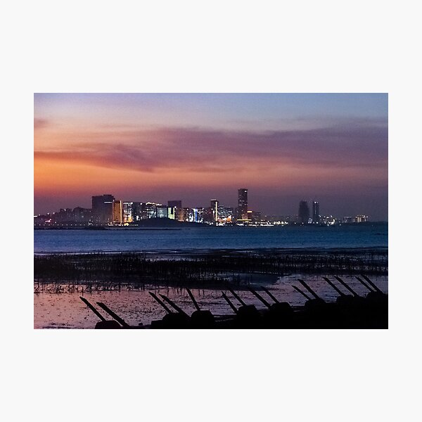 Landscape #1 - Edges of the Cold War: Kinmen to Xiamen Night Photographic Print
